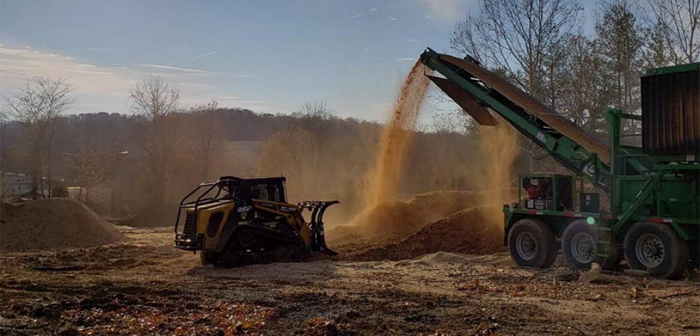 organic mulch sifting and turning
