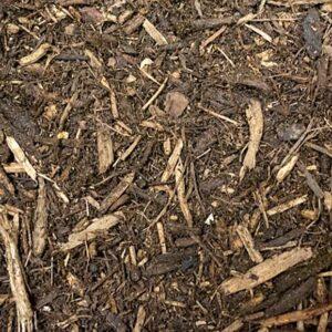 organic mulch closeup