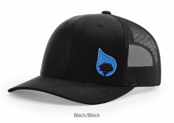 bluestone tree trucker hat black-black