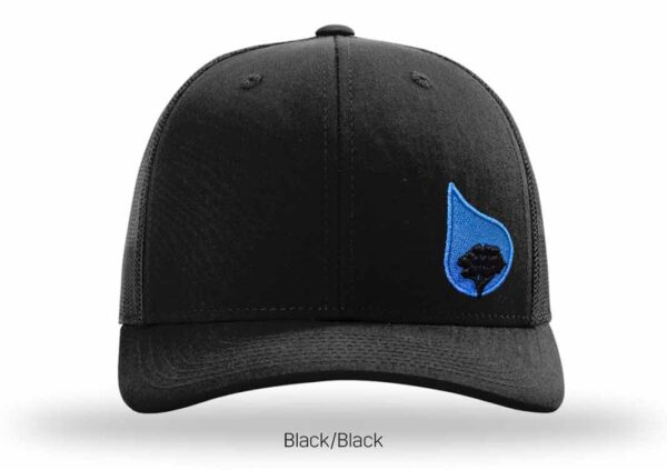 bluestone tree trucker hat black-black-2