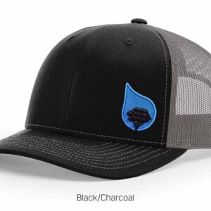 bluestone tree trucker hat black-charcoal
