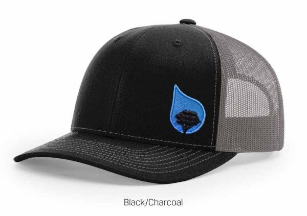 bluestone tree trucker hat black-charcoal