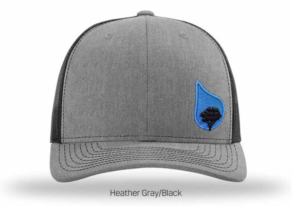 bluestone tree trucker hat heather-black-2