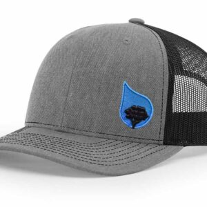 bluestone tree trucker hat heather-black
