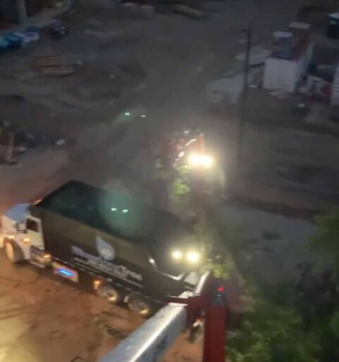 Predawn Tree Removal - Lights On [video]