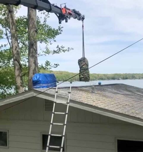 Large Tree Removal Over House & Wires