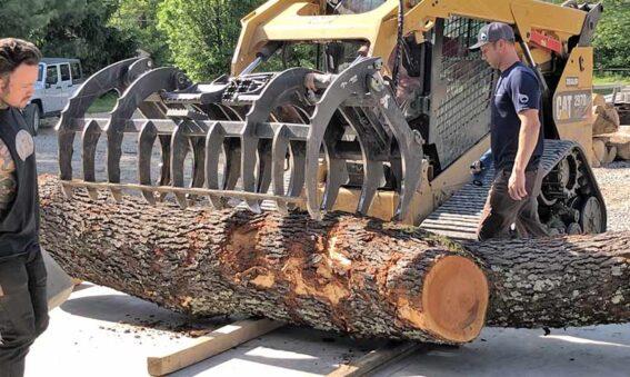 preparing log for live edge wood slabs